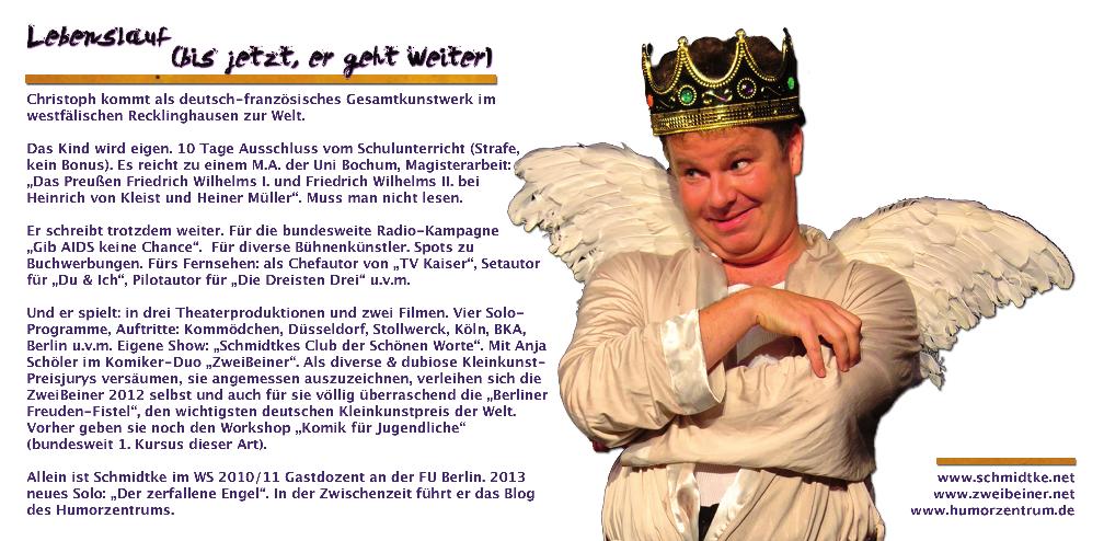 Booklet der CD des Komikers aus Berlin: Christoph Schmidtke.